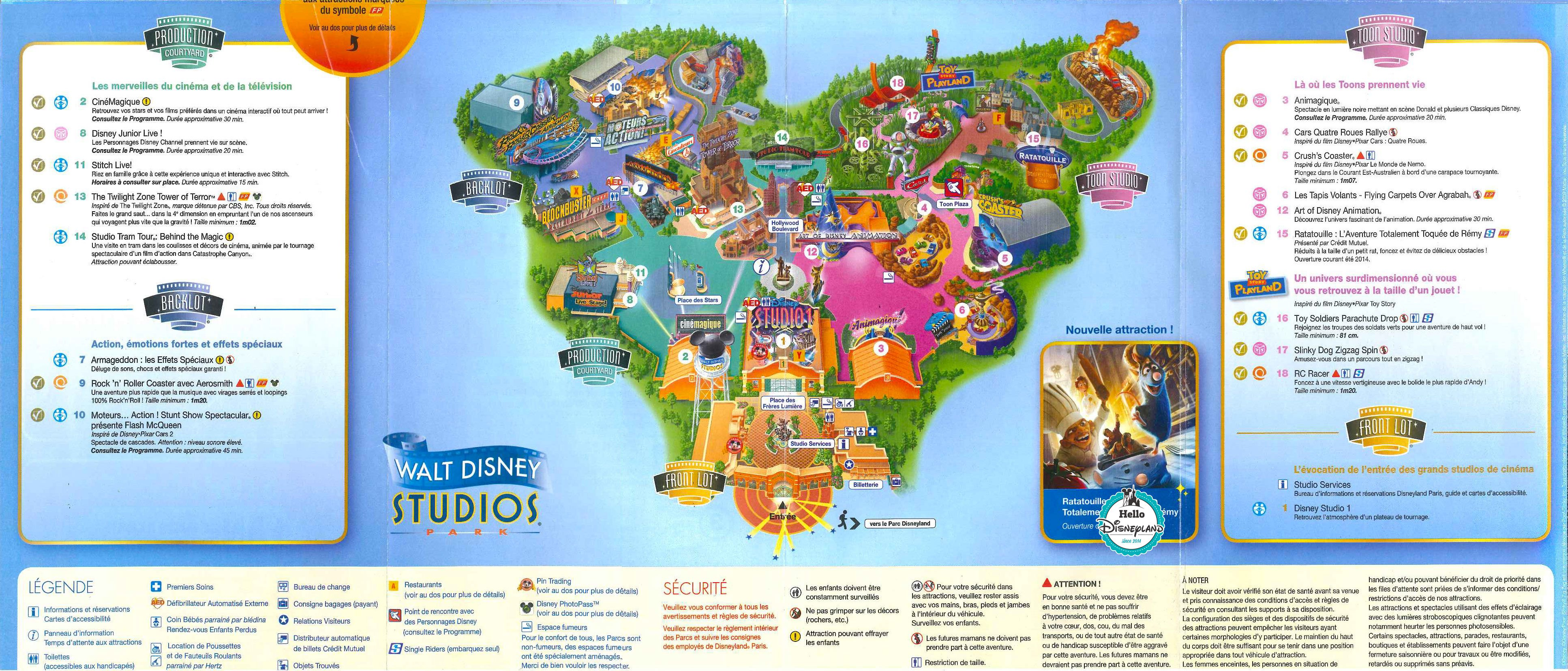plan disneyland studio
